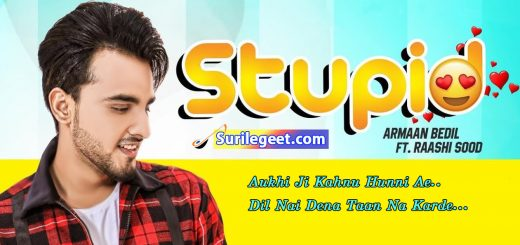 Stupid song lyrics Armaan Bedil